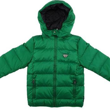 ONETOW Armani Boys Green Puffer Jacket