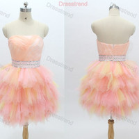 Cheap Homecoming Dress - Pink Homecoming Dress / Mini Homecoming Dress Cheap / Short Cocktail Dress / Pink Cocktail Dress / Prom Dress