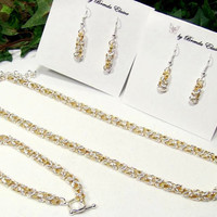 Elegant Two Tone  Byzantine Set