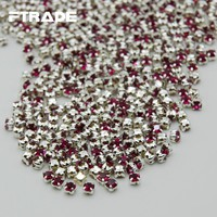 Art Supplies Super Crystal 288Pcs Rose Color Glass Rhinestones