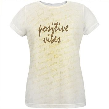 Inspirational Words Positive Vibes All Over Womens T Shirt