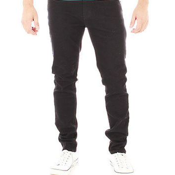 Guys Skinny Coloured Jeans - Black - Chase