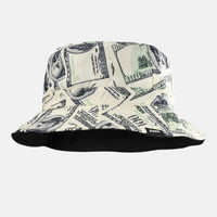 Money Benjamins Reversible Bucket Hat