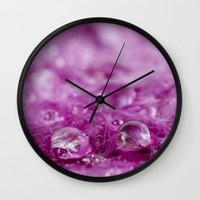 Drops in feathers Wall Clock by vanessagf