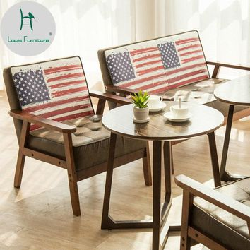 Louis Fashion Tea Shop Table and Chairs Combination Simple Leisure Double Booth Office Sofa Cafe Sweet Set
