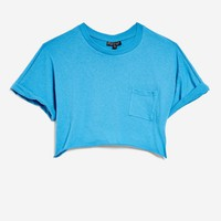 TALL Sawn Off Crop T-Shirt - T-Shirts - Clothing
