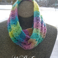 Rainbow Infinity Scarf **Free Shipping**