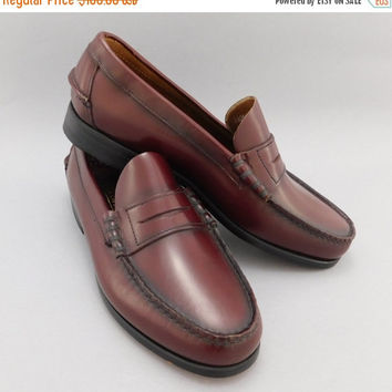 1980's Vintage, Florsheim Penny Loafers, Oxblood, Cordovan Leather, Super Preppy, Size 9 EEE, US Men's, 42 Euro, Slip Ons, Mint, Unworn