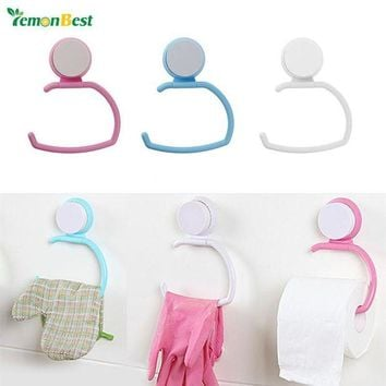 DCCKU7Q 1 PC Wall Suction Cup Towel Shelf Toilet Paper Holder Gloves Hanging Rack Hook ABS for Bathroom Kitchen