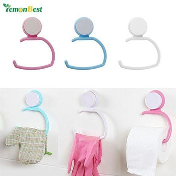 VONFC9 1 PC Wall Suction Cup Towel Shelf Toilet Paper Holder Gloves Hanging Rack Hook ABS for Bathroom Kitchen