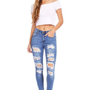 Conflict Ankle Skinny Jeans