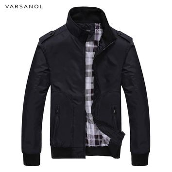 Varsanol 2018 New Jacket Coat Men Wear Autumn Jackets  Mens Clothing High Quality Spring Jacket Mandarin Collar Cotton Polyester