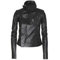 rick owens - classic biker leather jacket
