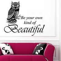 Wall Decals Quotes Vinyl Sticker Decal Quote Be your own Beautiful Nursery Baby Room Kids Boys Girls Home Decor Bedroom Art Design Interior NS696