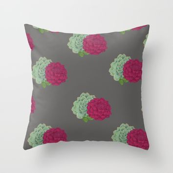 Succulent's & Hops Throw Pillow by Brittany