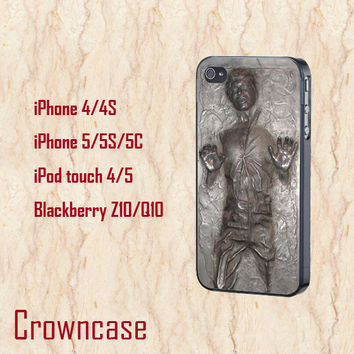 iphone 5c case,iphone 5c cases,cute iphone 5c case,cool iphone 5c case,iphone 5s case,iphone 5 case--Han Solo Star Wars,in plastic.