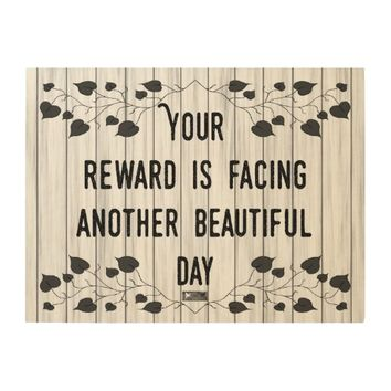 Reward Quote by Kat Worth Wood Wall Art