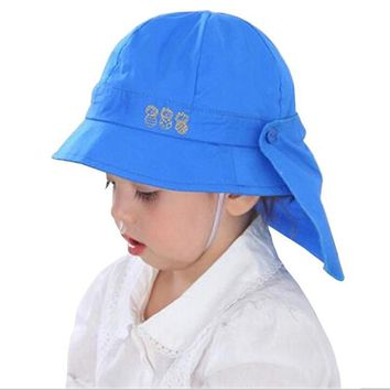 Baby Hat Summer Boys Sun Hat Toddler Baby Girls Hats Autumn Kids Beach Bucket Cap Children Beanies with Shawl Set Accessories