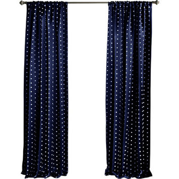 Lush Decor Polka Dots Blackout Window Curtain Panel | Wayfair