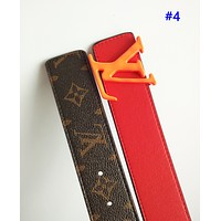 LV fashion hot selling men and women casual patchwork color printing belt belt #4