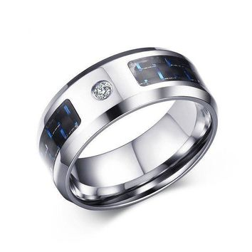 Men's Steel Carbon Fiber Ring