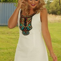 On The Road Again Dress: White - What's New - Hope's Boutique