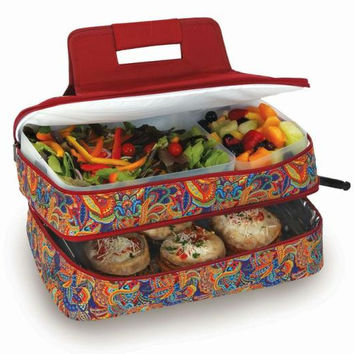 Food Carrier - Jewel Paisley Print