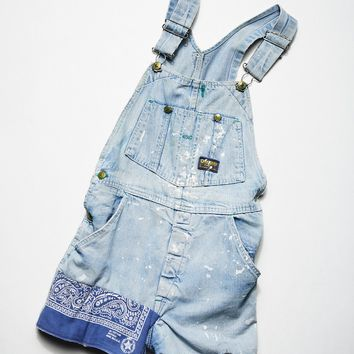 Free People Vintage 1970s Denim Shortalls