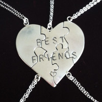 Best Friend Puzzle Necklace - Solid Sterling Silver