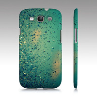 Lullaby - Just Go to Sleep - Samsung Galaxy S3 cell phone hard case - Photography, sky, rain, raindrops, clouds, nature, blue