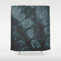 Muted Emerald Shower Curtain by DuckyB