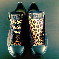Leopard low top converses
