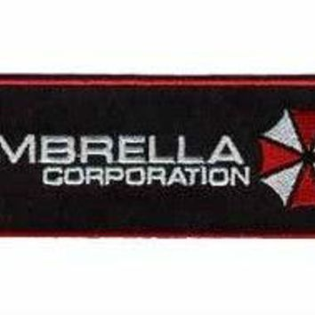 "4.3"" Resident Evil Umbrella Corporation tv movie Embroidered IRON ON Cool Biker Vest Patch Badge embroidery accessories"