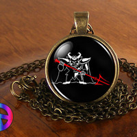 Undertale Asgore Game Gaming Gamer Handmade Necklace Pendant Jewelry Charm Gift