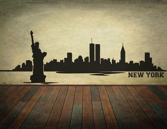 New York City Skyline Wall Decal Vinyl From RespectPrinting On