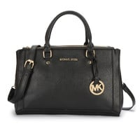 Michael Kors Logo Large Black Satchels Sale With 60% Off!
