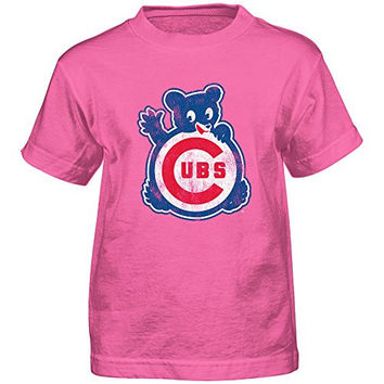 Chicago Cubs Infant / Toddler / Youth Pink 1968 T-Shirt
