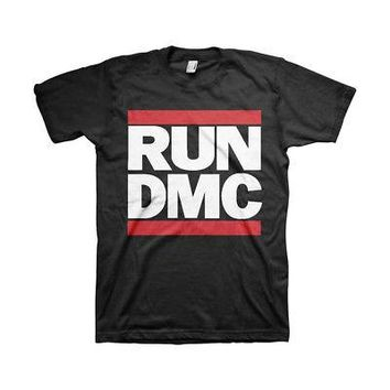 Run-D.M.C. Classic Hip-Hop Stacked Logo Official Licensed Adult Unisex T-Shirt