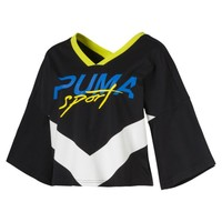 Xtreme Women's Cropped V-Neck | Cotton Black | PUMA Xtreme Pack | PUMA United States