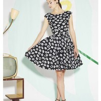 alice + olivia | ALLEGRA FLARE BOX PLEAT DRESS