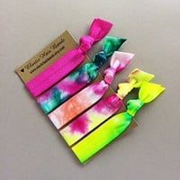 The Gypsy Tie Dye Elastic Hair Tie Ponytail Holder Collection by Elastic Hair Bandz