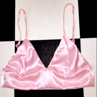 SWEET LORD O'MIGHTY! SILK KITTEN BRALET IN POWDER ROSE