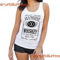 moonshine whiskey jack daniels logo - tank top for women