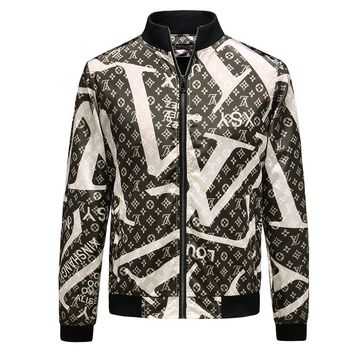 LV autumn and winter models men's casual simple retro jacket