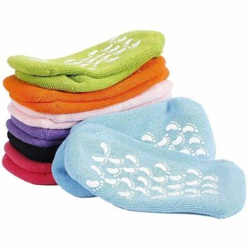 Spa Moisturizing Gel Socks Exfoliating Dry Cracked Soft Skin Sock Pedicure Foot Care Tool