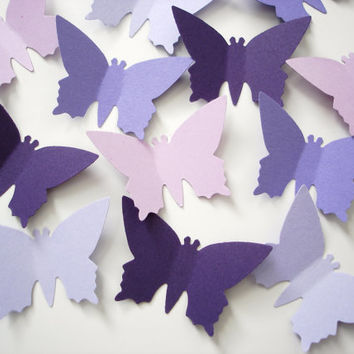 50 Large Mixed Purple Monarch Butterfly die cuts punch confetti scrapbook embellishments - No926