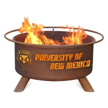 U of New Mexico Steel Fire Pit by Patina Products