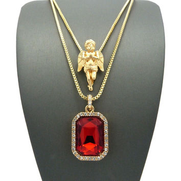 ANGEL & RUBY CHAIN (2 Piece Set)