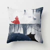 Who's afraid of the Wolf? Throw Pillow by Francesca B.