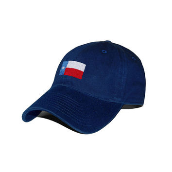 Texas Flag Needlepoint Hat in Navy by Smathers & Branson